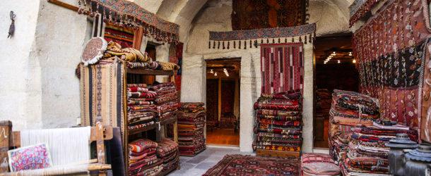 Perzische tapijten winkel